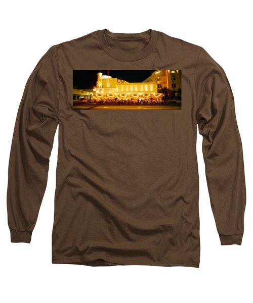Restaurant Lit Up At Night, Miami Long Sleeve T-Shirt