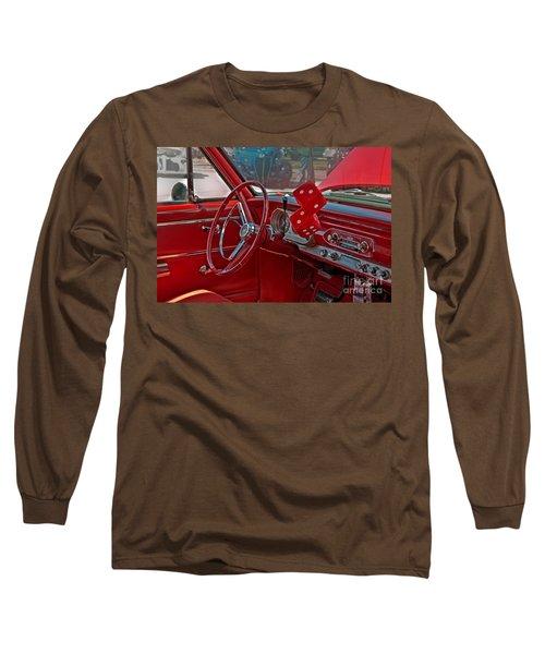 Retro Chevy Car Interior Art Prints Long Sleeve T-Shirt by Valerie Garner