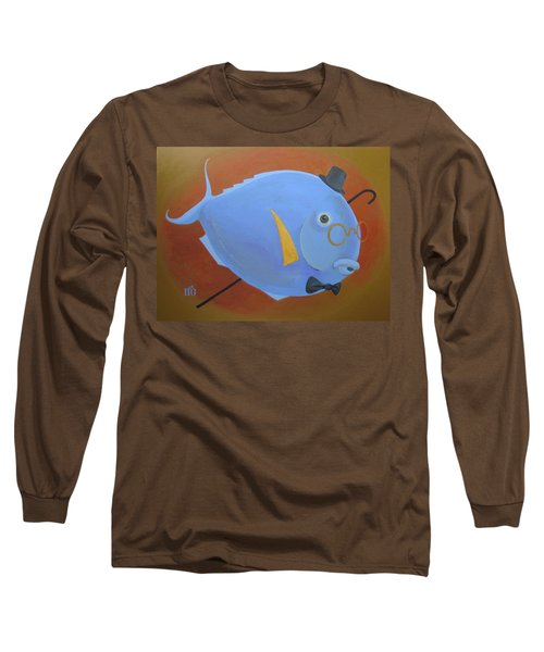Long Sleeve T-Shirt featuring the painting Rhapsody In Blue by Marina Gnetetsky