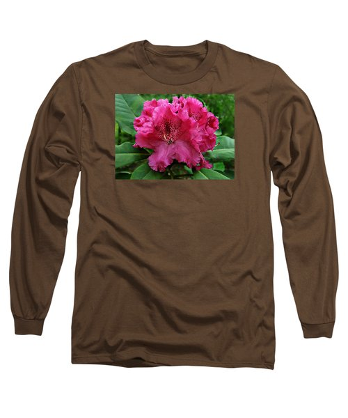 Rhododendron ' Bessie Howells ' Long Sleeve T-Shirt by William Tanneberger