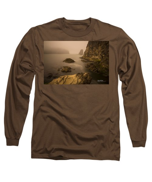Rialto Beach Rocks Long Sleeve T-Shirt by Charlie Duncan