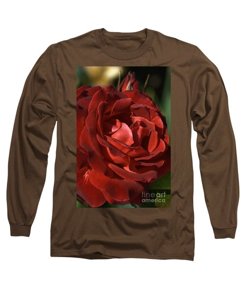 Long Sleeve T-Shirt featuring the photograph Rich Is Rose by Joy Watson