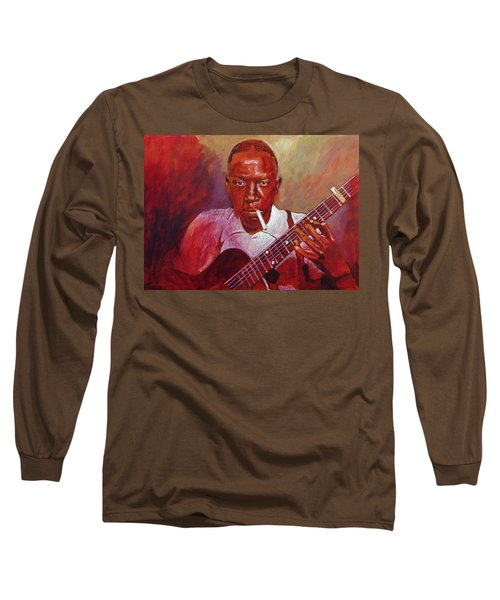 Robert Johnson Photo Booth Portrait Long Sleeve T-Shirt