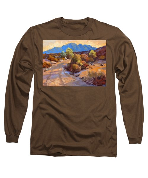 Rock Cairn At La Quinta Cove Long Sleeve T-Shirt by Diane McClary