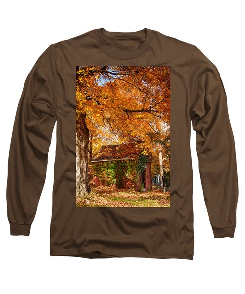 Long Sleeve T-Shirt featuring the photograph Rock Of Ages Surrouded By Color by Jeff Folger