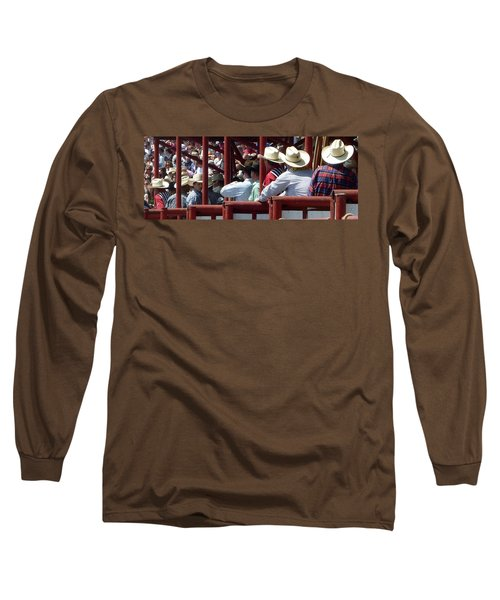 Long Sleeve T-Shirt featuring the photograph Rodeo Time Cowboys by Susan Garren