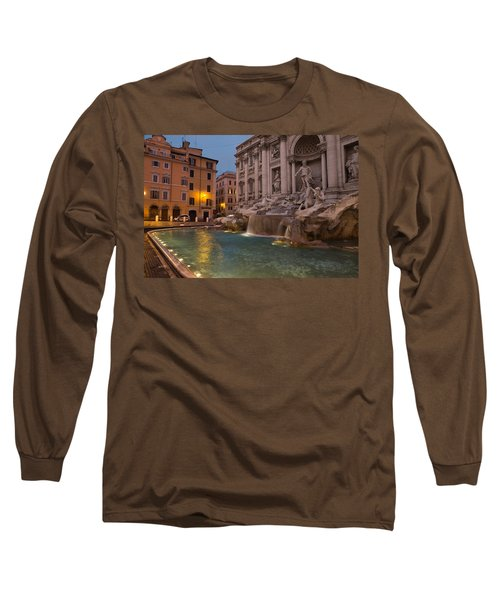 Rome's Fabulous Fountains - Trevi Fountain At Dawn Long Sleeve T-Shirt