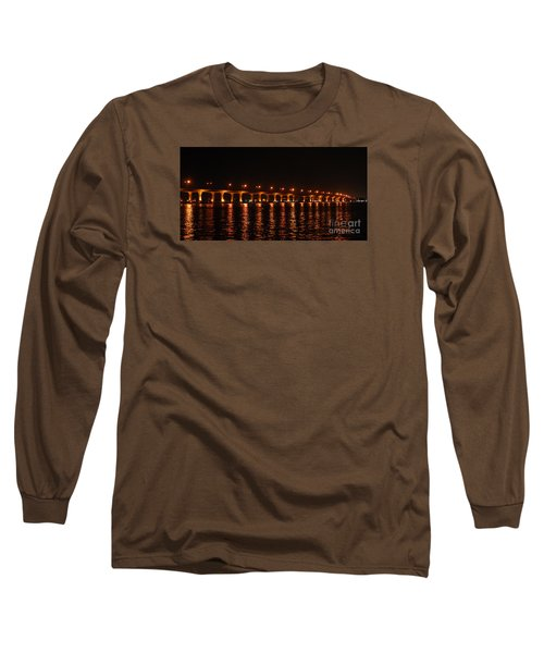 Long Sleeve T-Shirt featuring the photograph Roosevelt Bridge Panorama by Olga Hamilton