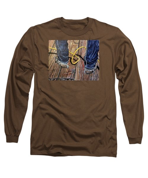 Roping Boots Long Sleeve T-Shirt by Marilyn  McNish