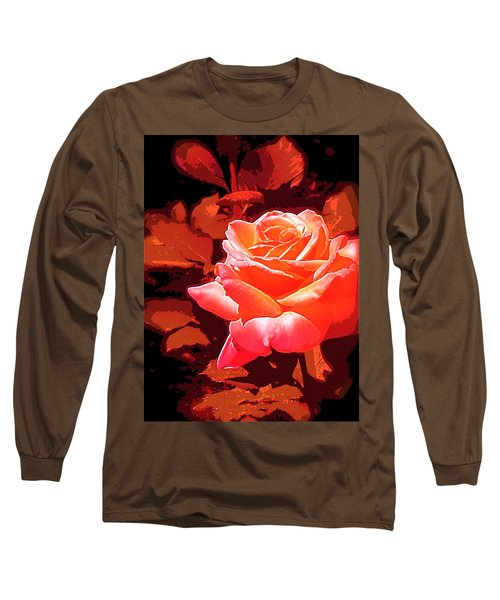 Rose 1 Long Sleeve T-Shirt by Pamela Cooper