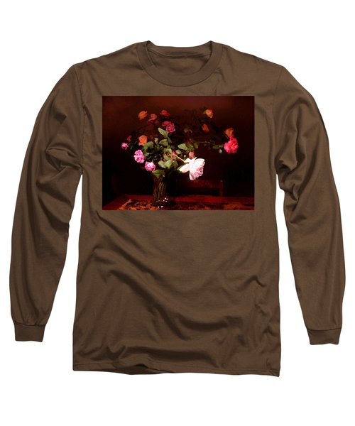 Rose Bouquet Long Sleeve T-Shirt by Steve Karol