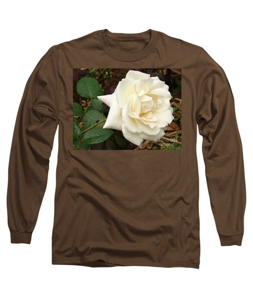 Rose In The Rain Long Sleeve T-Shirt