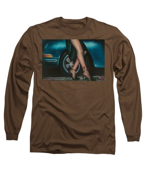 Rose Tattoo Long Sleeve T-Shirt by Mary Ann  Leitch
