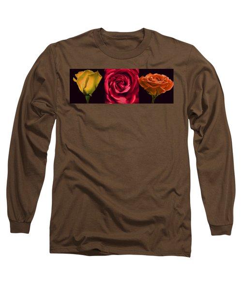Long Sleeve T-Shirt featuring the photograph Rose Triad I by John Hansen