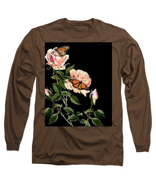 Roses And Butterflies Long Sleeve T-Shirt