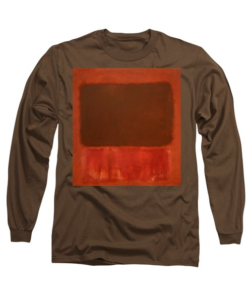 Rothko's Mulberry And Brown Long Sleeve T-Shirt