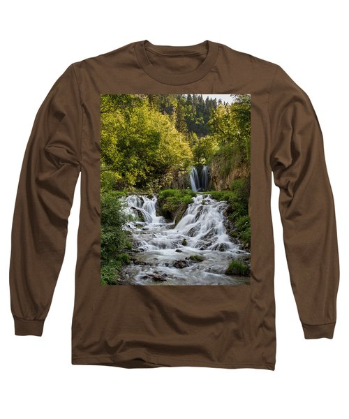Roughlock Falls South Dakota Long Sleeve T-Shirt by Patti Deters