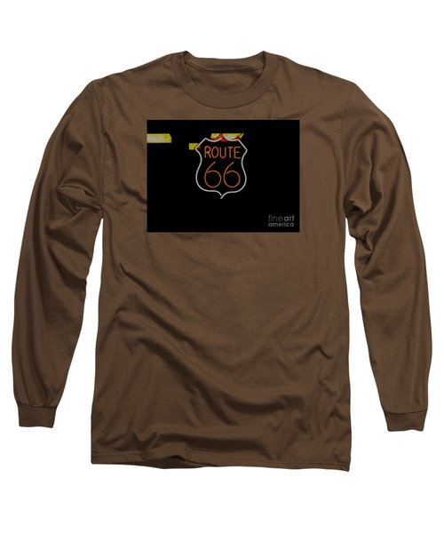 Route 66 Revisited Long Sleeve T-Shirt by Kelly Awad