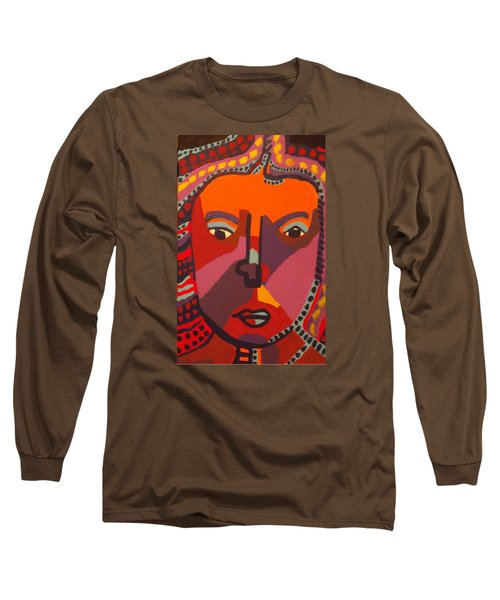 Long Sleeve T-Shirt featuring the painting Royal Buddha by Don Koester