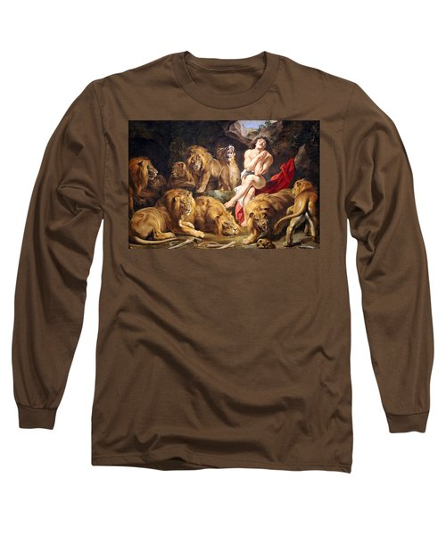 Long Sleeve T-Shirt featuring the photograph Rubens' Daniel In The Lions' Den by Cora Wandel