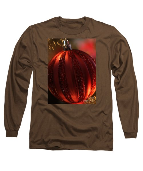 Ruby Red Christmas Long Sleeve T-Shirt by Linda Shafer