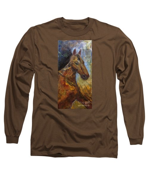 Run Wild Run Free Long Sleeve T-Shirt by Gail Butters Cohen
