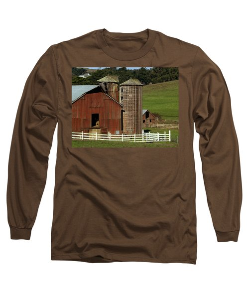 Rural Barn Long Sleeve T-Shirt by Bill Gallagher