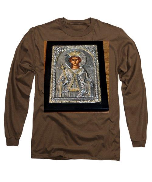 Russian Byzantin Icon Long Sleeve T-Shirt by Jay Milo