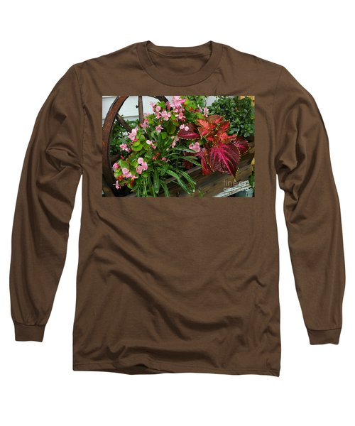 Long Sleeve T-Shirt featuring the photograph Rustic Garden by Christiane Hellner-OBrien
