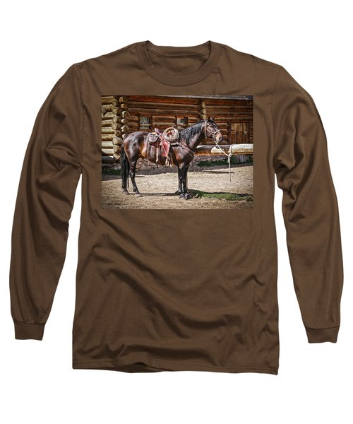 Saddled And Waiting Long Sleeve T-Shirt