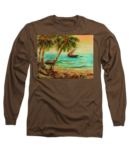 Sail Boats On Indian Ocean  Long Sleeve T-Shirt