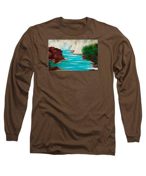 Sailing The Coast Of California Long Sleeve T-Shirt