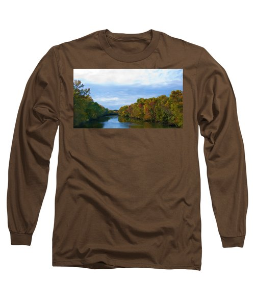 Saluda River In The Fall Long Sleeve T-Shirt
