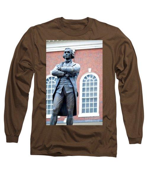 Samuel Adams Statue Massachusetts State House Long Sleeve T-Shirt