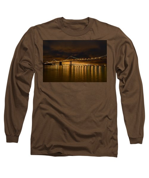 San Francisco - Bay Bridge At Night Long Sleeve T-Shirt