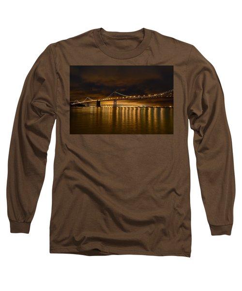 San Francisco - Bay Bridge At Night Long Sleeve T-Shirt