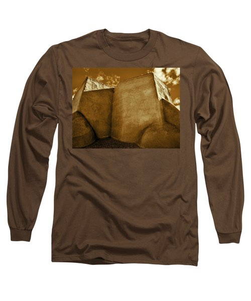 Long Sleeve T-Shirt featuring the photograph San Francisco De Asis Mission Church Taos II by John Hansen