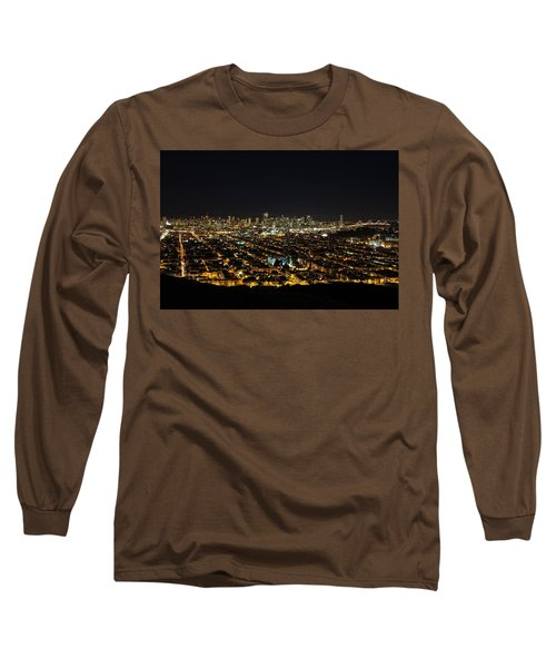 Long Sleeve T-Shirt featuring the photograph San Francisco Skyline by Dave Files