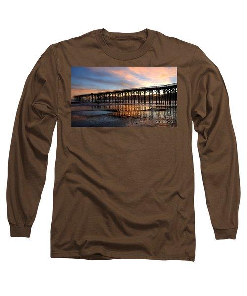 Long Sleeve T-Shirt featuring the photograph San Simeon Pier by Vivian Christopher