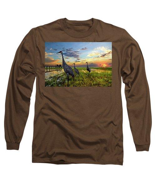Sandhill Sunset Long Sleeve T-Shirt