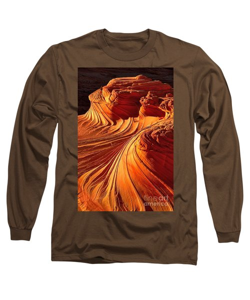 Sandstone Silhouette Long Sleeve T-Shirt by Adam Jewell