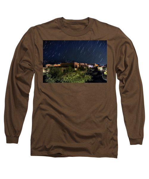 Long Sleeve T-Shirt featuring the photograph Santa Catalina Mountain Startrails by Dan McManus