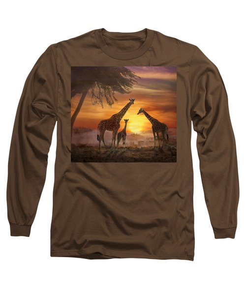 Savanna Sunset Long Sleeve T-Shirt