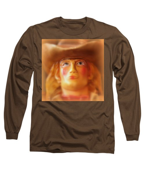 Scary Cowgirl Long Sleeve T-Shirt by Lynn Sprowl