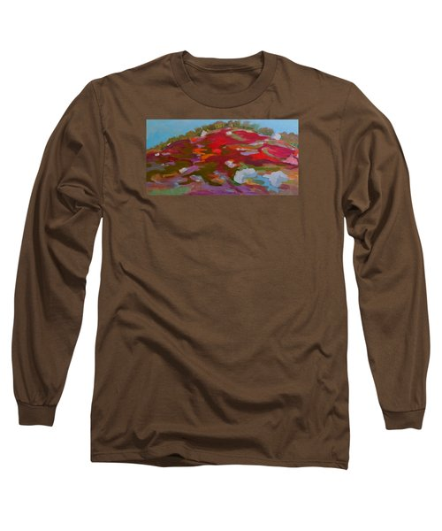 Long Sleeve T-Shirt featuring the painting Schoodic Trail Blueberry Hill by Francine Frank