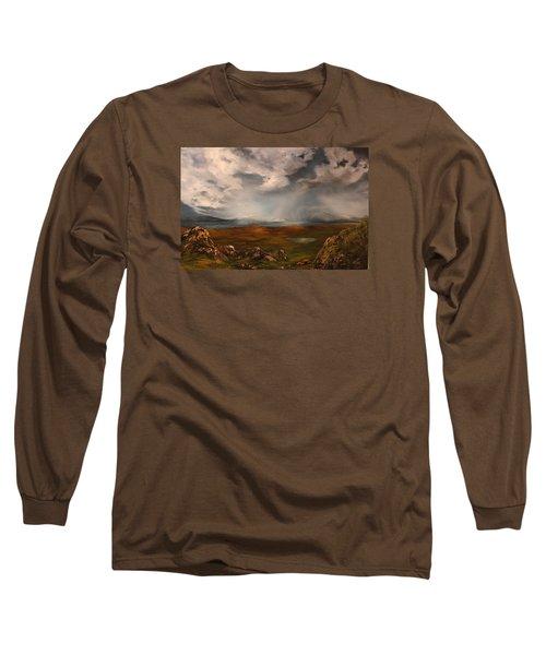 Scottish Loch Long Sleeve T-Shirt by Jean Walker