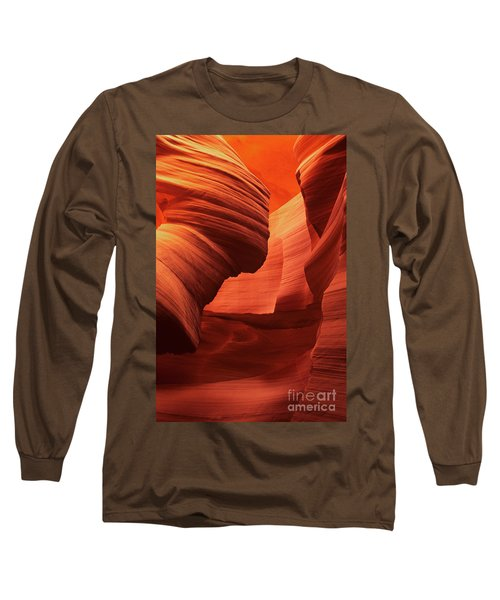 Long Sleeve T-Shirt featuring the photograph Sculpted Sandstone Upper Antelope Slot Canyon Arizona by Dave Welling