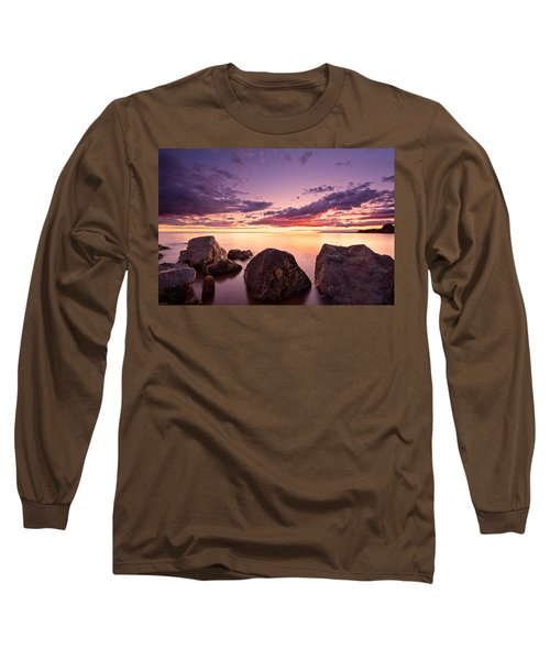 Sea At Sunset The Sky Is In Beautiful Dramatic Color Long Sleeve T-Shirt