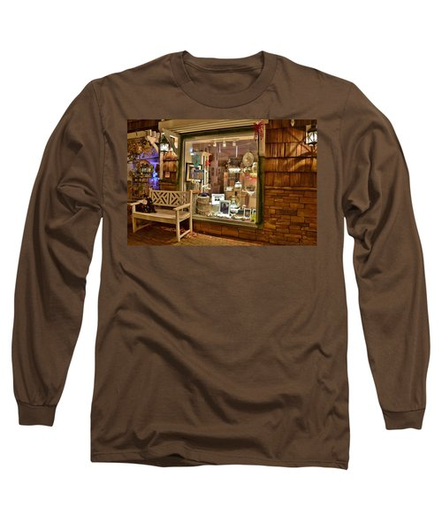 Long Sleeve T-Shirt featuring the photograph Sea Finds Side Window - Rehoboth Beach Delaware by Kim Bemis