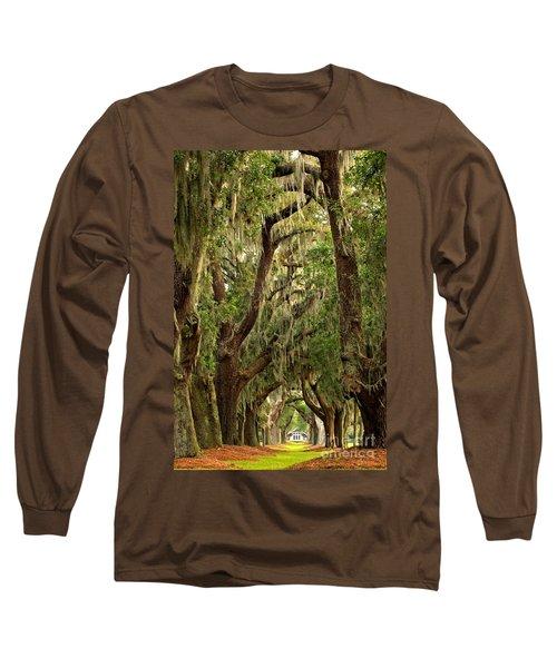Sea Island Oaks Portrait Long Sleeve T-Shirt
